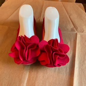 Kate Spade ballet flat Slippers Hot Pink Size 8